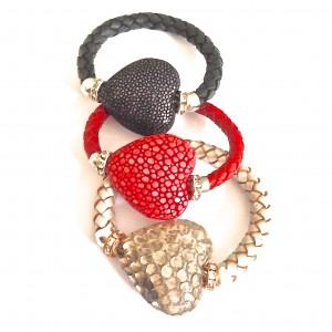 Snake/Stingray Heart Bracelets